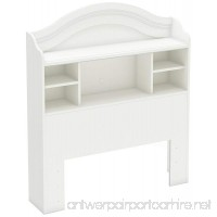 South Shore Savannah Twin Bookcase Headboard  Pure White - B008FLUEHK