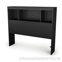 South Shore Spark Bookcase Headboard with Storage Twin 39-inch Pure Black - B004H8QKFA