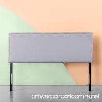 Zinus Upholstered Nailhead Rectangular Headboard in Light Grey Queen - B079SMB815