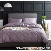 BEIRU Satin Four-piece Solid Color Long-staple Cotton Simple Nordic Dew Cotton Pigment Bed Linen Single ZXCV (Color : Purple Size : 200230cm) - B07FJNT2QW