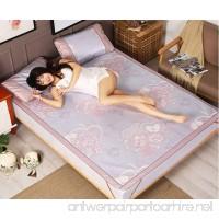 BEIRU Summer Mat Ice Silk Mat Three-piece 1.8 Meters Bed Foldable 1.5m1.2 Straw Mat 0.9 Mat ZXCV (Color : 3  Size : 120190CM) - B07FJN8T1B