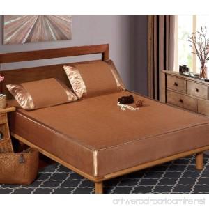 BEIRU Summer Mat Ice Silk Mat Wholesale Bed Three Sets Of 1.5m/2m Jacquard Rattan Seat Kit ZXCV (Color : 1 Size : 200230cm) - B07FD98VHC