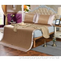 New Summer Mat Three-piece Double-sided Ice Rattan Seat 1.5 Meters Bed 1.8 Meters Bed Folding Air-conditioned ZXCV (Color : 3  Size : 150200cm) - B07FJQ5RX5